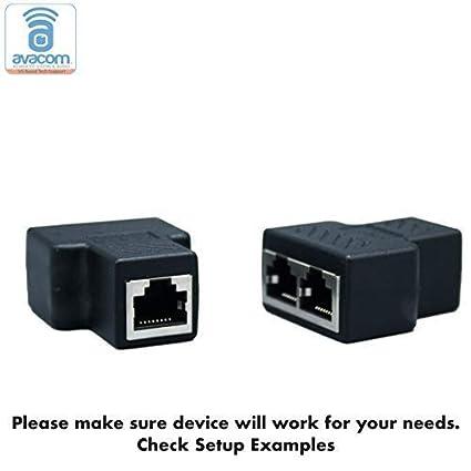 avacom rj45 multiplex splitter adapter, female socket interface, ethernet cable 8p8c coupler, keystone jack, extender plug, ethernet lan network Tray Cable Adapters