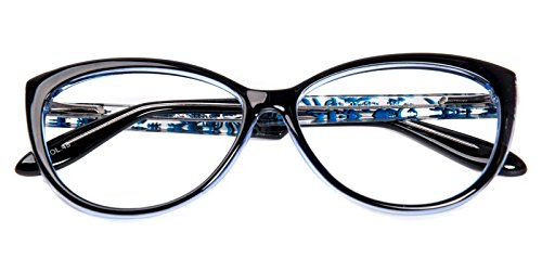 Glassesshop Womens Fashion Oversized Cateye or High Pointed Eyewear Vintage Inspired-Blue