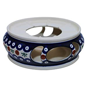 Hand-Decorated Polish Pottery Teapot Warmer ø18.5 cm Perfect for Soup Terrines and Containers in Decor 41