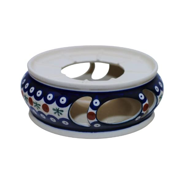 Hand-Decorated Polish Pottery Teapot Warmer ø18.5cm Perfect for Soup Terrines and Containers in Decor 41