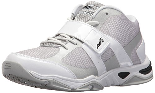 Flex Chrome Insert (AVIA Women's GFC Studio II Sneaker, White/Chrome Silver/Black, 8 Medium US)