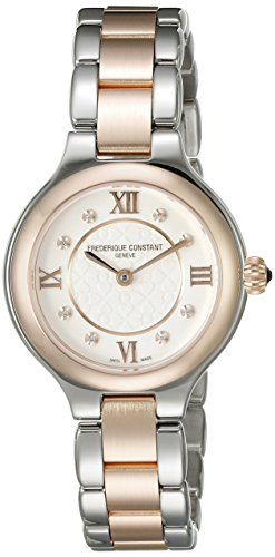 Frederique Constant Classics Delight Women's Silver Dial Two Tone Swiss Diamond Watch FC-200WHD1ER32B