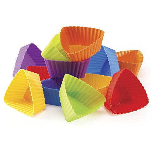 Triangle Silicone Cupcake Liners (Set of (Triangle Silicone Baking Cups)