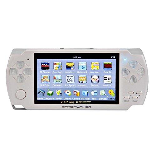 Price comparison product image Portable MP5 Player Game Console with 4GB Camera FM(White)