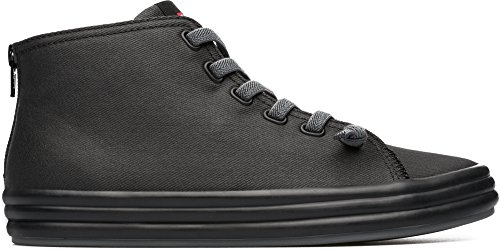 Camper Women's Borne K400163 Fashion Sneaker, Black, 37 EU/7 M US