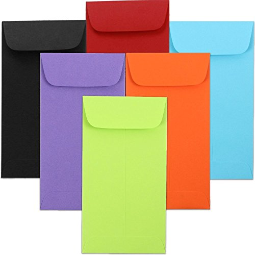 JAM PAPER #7 Business Colored Envelopes - 3 1/2 x 6 1/2 - Assorted Colors - 150/Pack