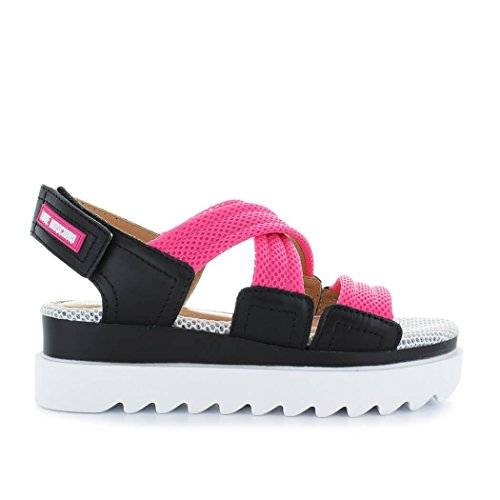 Love Moschino Women's Shoes Pink Black Sandal Spring Summer 2018 uTtax