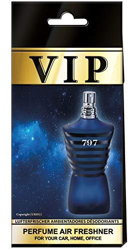 3 x Caribi VIP auto-luchtverfrissers parfum thuis kantoor geur vergelijkbaar met dure parfum – nr. 797