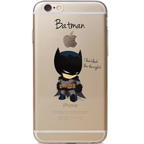 Batman, Catwoman, Joker, Iron Man, Captain America, Spider Man, The Hulk, Thor Jelly Clear Case for Apple iPhone 6/6s PLUS (5.5