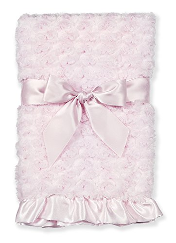 Bearington Baby Small Swirly Security Blankie (Pink) 16