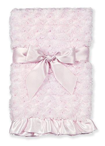 Bearington Baby Pink Swirly Snuggle Blanket, 28.5