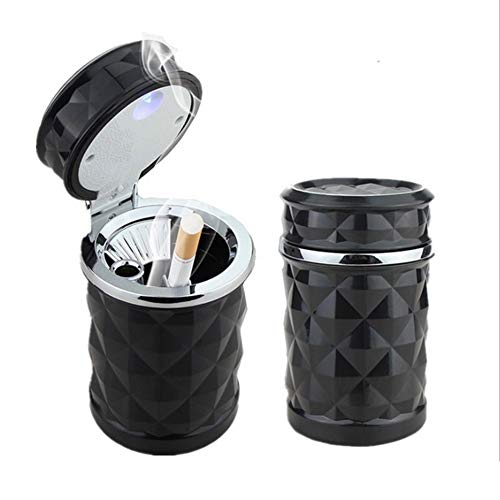 YMXLJJ Diamond Ashtray Portable Fashion Creative Ashtray High Temperature with LED Light Cigarette Smoke Office Home Car Travel Accessories,Black by YMXLJJ (Image #7)