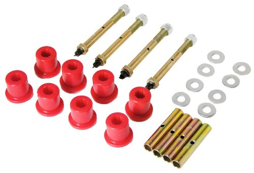 Shackle Bushing - Prothane 1-814 Red Greasable Front Shackle Bushing Kit for CJ5, CJ7 and CJ8