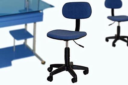 Sedie Da Ufficio Senza Braccioli : Sedia da ufficio blu con rotelle altezza regolabile senza