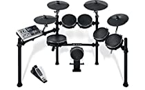 Alesis DM10 Studio Mesh Kit | Ten-Piece Professional Electronic Drum Set with Black Aluminum StageRack (Mesh Drum Pads)
