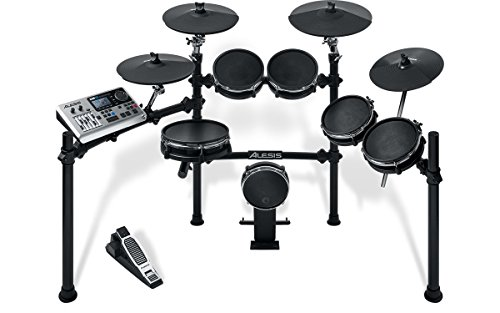 alesis-dm10-studio-mesh-kit-ten-piece-professional-electronic-drum-set-with-black-aluminum-stagerack