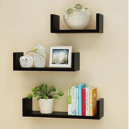 Living Room Wall Shelves Bedroom Furniture U Shape Home Decor Set Of 3 Home Decor Shelves