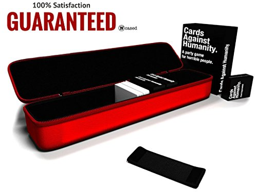 BRAND NEW ITEM** - N cased(TM) (red) Hard Case for C. A. H. Card Game, Large, Fits the Main Game + All 6 Expansions. Includes 5 Moveable Dividers. Fits about 1400 Cards.