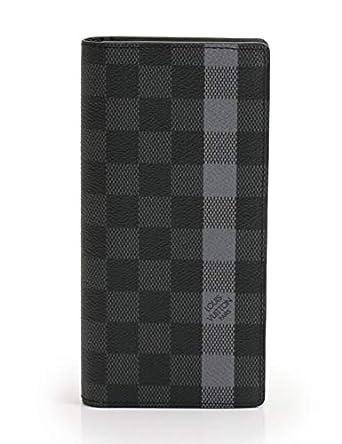 bd387bf1fe9a Amazon.co.jp: (ルイ・ヴィトン) LOUIS VUITTON ポルトフォイユ ブラザ ストライプ ダミエグラフィット 二つ折り財布  PVC レザー 黒 N63307 中古: 服&ファッション ...