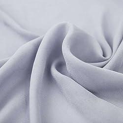 Blue Rain Wool Dobby Hi Multi Chiffon Fabric by the yard - 1 Yard