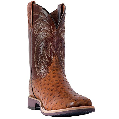 Dan Post Western Boots Mens Ostrich Philsgood 10.5 D Bay Apache DP3985 ()