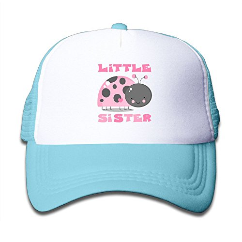 (Pink Ladybug Little Sis Boy-Girl Mesh Baseball Caps Kid's Trucker Hats)