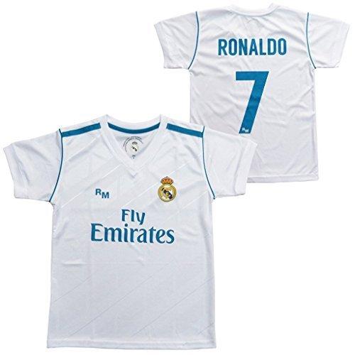 Real Madrid Shirt 1 /2018/Dorsal Gr/ö/ßentabelle Ronaldo/ Trikot Replica Offizielle 2017/ /Erwachsene