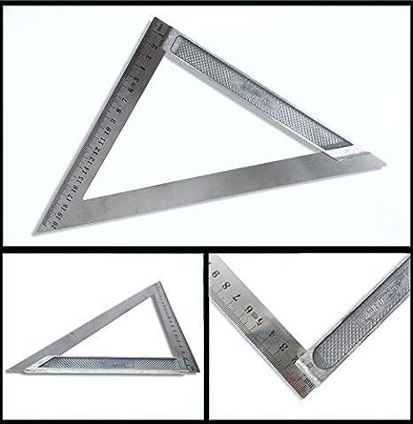 Amazon.com: Regla cuadrada triangular de 7.874 in ...