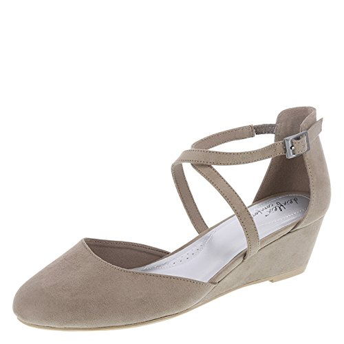 Taupe Cross Wedge Strap Dexflex Angie Comfort Women's qOw0S0Y