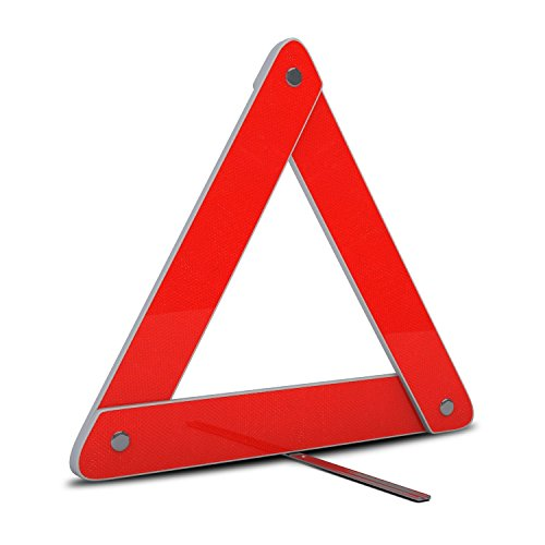 Majic Highly Reflective Emergency Security Safety Triangle for Vehicles ()
