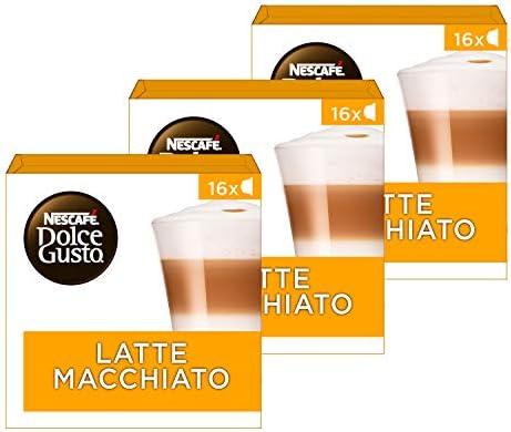 NESCAFÉ Dolce Gusto Café Latte Macchiato, Pack de 3x16 Cápsulas ...