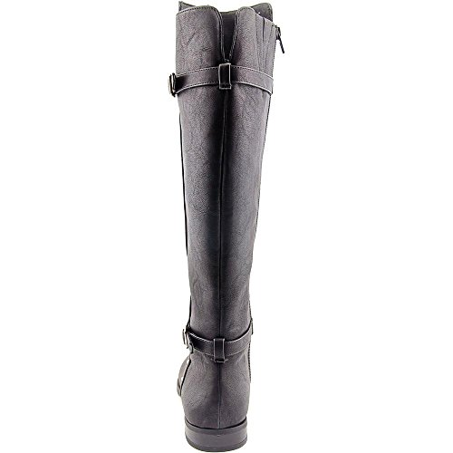 INC International Concepts Ameliee Kunstleder Mode-Knie hoch Stiefel Black Smooth