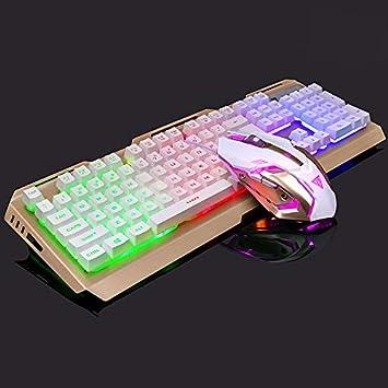 Wildlead Mecánico Gaming Keyboard Mouse Set Wired Antideslizante Luz de Respiración USB para computadora: Amazon.es: Electrónica