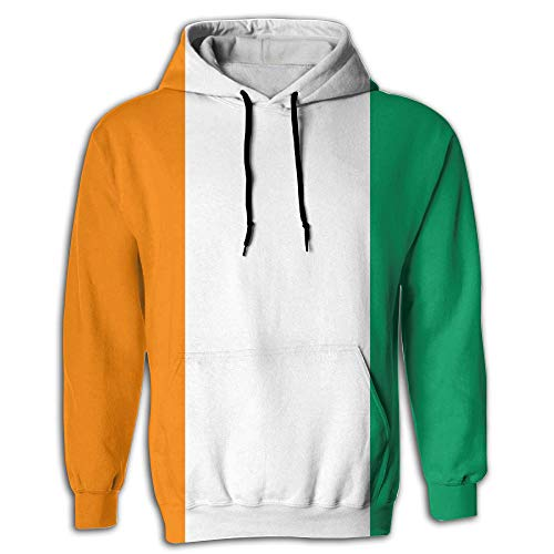 (Men's Hoodies Flag of Ivory Coast Full-Frame Print Sweatshirt Pullover Jackets Hooded )