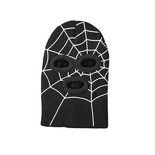 Broner Kids Knit Super Hero Spiderman Face Mask, Black ()