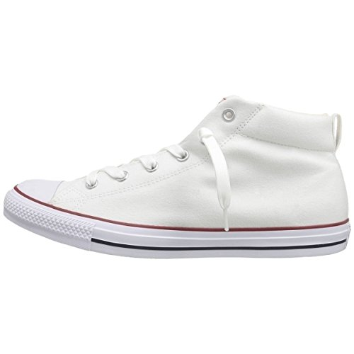 Converse Unisex Chuck Taylor Street Mid White Natura Casual Shoe 11 Men Us