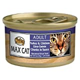Nutro Max Cat Adult Can Turkey and Chicken Liver Entree 24/3 oz, My Pet Supplies