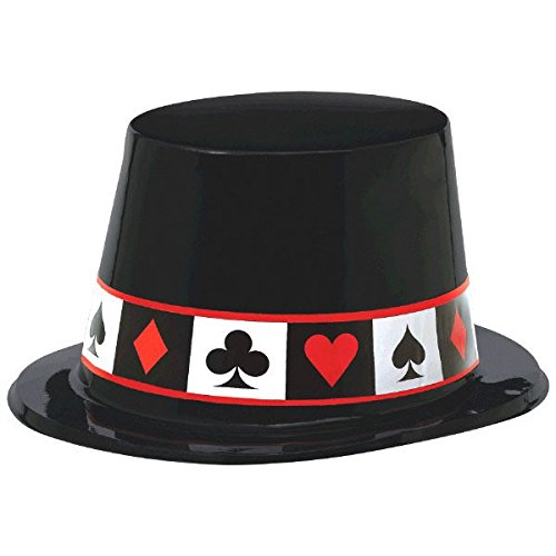 Amscan 250273 Casino Top Hat, 10 3/4