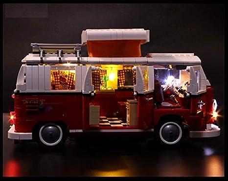 Daniko Led Beleuchtungsset Für Lego Vw Bus T1 Akku Box 10220 Campingbus Spielzeug
