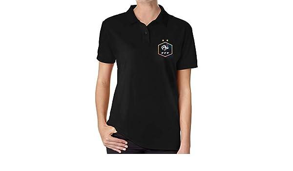 UP LUCK FFF France Women Premium Office Polo Shirt: Amazon.es ...