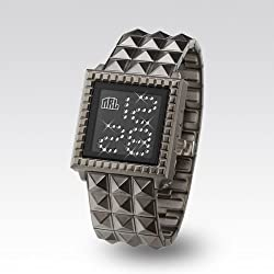 "Zerone Crossover Nine Rulaz ""STARLIGHT"" IP Titanium Swarovski Crystal Digital Watch"
