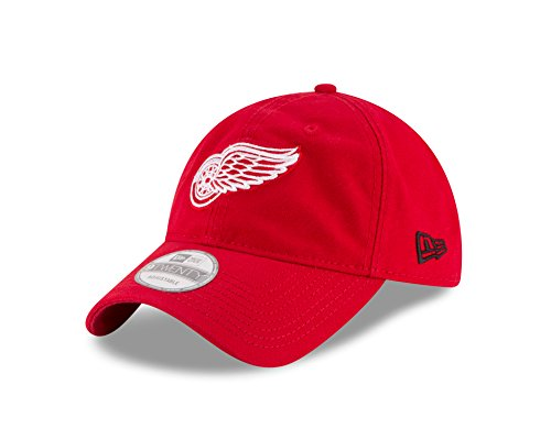 New Era NHL Detroit Red Wings Core Shore Primary 9TWENTY Adjustable Cap, One Size, Red