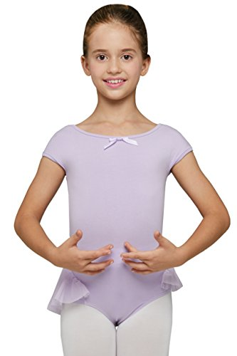 Come Dance With Us Costume (Ballet Dance Clothes Leotard with Raglan Cap Sleeve by Mndmd (Tag 120 - Age 4T - 6, Lilac Purple))