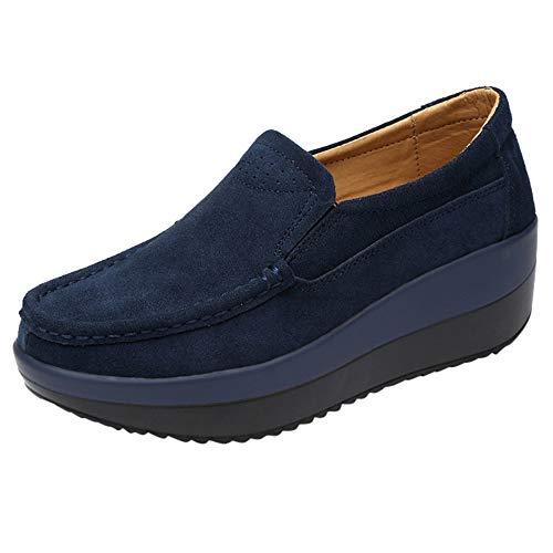 LHWY Zapatillas Mocasines de Deportes Zapatillas de Deporte Transpirables Planas para Mujer Calzado Deportivo Informal Zapatos con Suela Gruesa: Amazon.es: ...