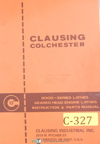 Clausing Colchester 13