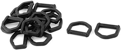 DealMux saco de ombro D Shaped Webbing a correia Ligar anel ajustável 15pcs Buckle