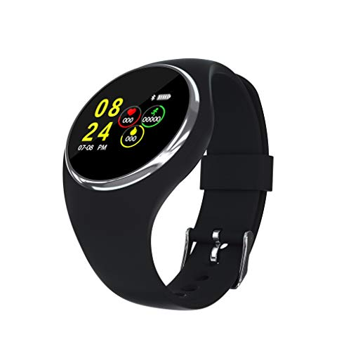 - RYGHEWE Smart Watch Bluetooth Sport Multifunctional Activity Trackers Sleep Monitor Pedometer Unisex Waterproof Fitness Band Black
