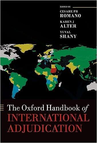 The Oxford Handbook of International Adjudication (Oxford Handbooks)