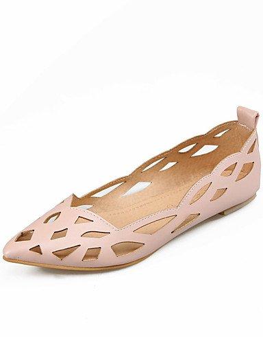 ZQ YYZ Zapatos de mujer - Tac¨®n Plano - Puntiagudos - Planos - Exterior / Vestido / Casual - Cuero Patentado - Azul / Rosa / Blanco , pink-us10.5 / eu42 / uk8.5 / cn43 , pink-us10.5 / eu42 / uk8.5 / white-us5 / eu35 / uk3 / cn34