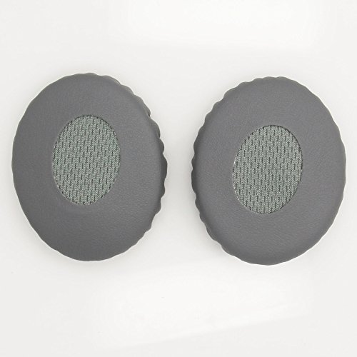 Protein Leather + Memory Foam Replacement Earpads Ear Pads Cushion for Bose OE2 OE2i Headphone (Gray)